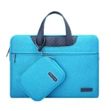 15.4 inch Cartinoe Business Series Exquisite Zipper Portable Handheld Laptop Bag with Independent Power Package for MacBook  Lenovo and other Laptops  Internal Size:35.0x24.0x3.0cm(Blue)