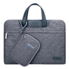 15.6 inch Cartinoe Business Series Exquisite Zipper Portable Handheld Laptop Bag with Independent Power Package for MacBook  Lenovo and other Laptops  Internal Size:36.5x24.0x3.0cm(Grey)