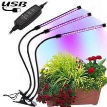 18W Triple hoofd verstelbare Spectrum Timing LED-Lamp voor Plant groei verlichting  DC 5V