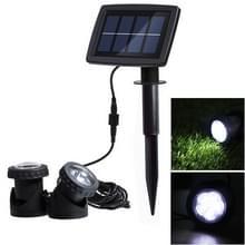 Twee hoofden LED Outdoor waterdichte Solar onderwater Spotlight schijnwerper