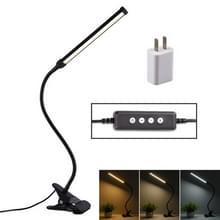 LED bureaulamp 8W opvouwbare USB opladen oog bescherming tafellamp  USB charge versie + stekker (zwart)