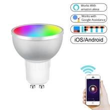 GU10 5W RGB dimmen WIFI Smart LED gloeilamp energiebesparing licht (kleurrijk licht)