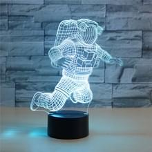 Astronaut vorm 3D kleurrijke LED Vision Lichttafel lamp  opladen touch versie