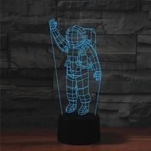 Astronaut vorm 3D kleurrijke LED Vision Lichttafel lamp  USB & batterij versie
