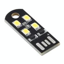 4 LED's Ultra Thin Energy Saving USB Light (Wit licht)