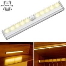 0.8 w 10 LEDs warm wit licht smal scherm intelligent menselijk lichaam sensor licht LED gang kast licht  USB opladen versie