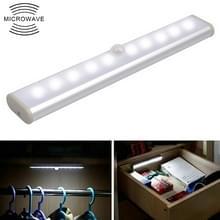 2W 10 LEDs wit licht breed scherm intelligent menselijk lichaam sensor licht LED corridor kabinet licht  batterij versie
