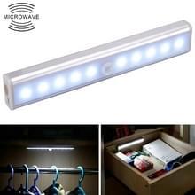 1.8 w 10 LEDs wit licht breed scherm intelligent menselijk lichaam sensor licht LED corridor kabinet licht  batterij versie