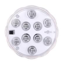 Waterdichte onderdompelbare LED licht  10 LEDs cilinder afstandsbediening met externe regelaar  Remote controle bereik (in Open gebied): 24-30 voeten