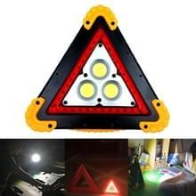 W837 Multifunctionele driehoek vorm oplaadbare witte COB + rode LED nood waarschuwingslampje