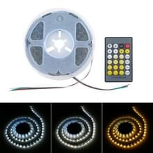 12V SMD 2835 120 LEDs warm licht + wit ligtht LED strip met afstandsbediening