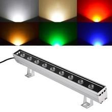 9W LED ingesloten begraven lamp IP65 waterdicht rechthoekige landschap platform trap stap lamp (groen licht)