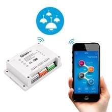 Sonoff 4 kanaals R2 Rail montage afstandsbediening WiFi Smart Switch  compatibel met Alexa en Google Startpagina  ondersteuning voor iOS en Android
