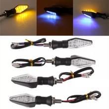 4 PC's DC 12V motorfiets Front 9-LED + terug 3-LED Pinklichten oogklep licht  (geel + licht blauw)
