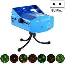 Mini Laser stage verlichting holografische Laser Star projector zonder afstandsbediening (EU plug)