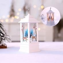 Witte elk patroon kerst simulatie vlam LED lamp Desktop decoratie