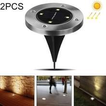 2 PCS 4 LED's IP44 Waterdicht zonne-energie begraven licht  SMD 5050 onder ground lamp Outdoor Path Way Tuin Decking LED-licht