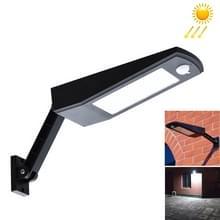 6.8W zonne-Motion Sensor LED zonne-licht  48 LED SMD 2835 900 LM hoek aanpassing energie opslaan van licht met 5V 3.2W zonne-Panel(Black)