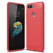 Geborsteld textuur Carbon Fiber schokbestendig TPU Case voor Lenovo S5 (rood)