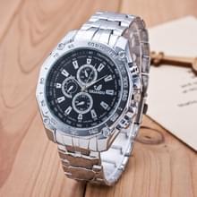 3 pak mannen Business Strip Watch Quartz horloge (kleur: zwart)