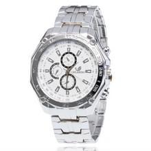 3 pak mannen Business Strip Watch Quartz horloge (kleur: wit)