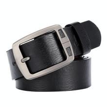 Dandali XX827 mannen retro PIN gesp lederen riem tailleband  lengte: 125cm (zwart)