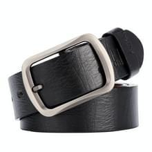 Dandali XX829 mannen retro PIN gesp lederen riem tailleband  lengte: 115-125cm (zwart)