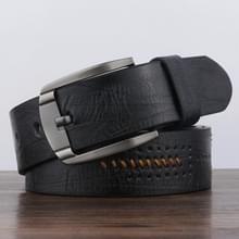 Dandali XX818 mannen mode retro lederen riem tailleband  lengte: 110cm (zwart)