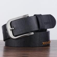 Dandali XX823 mannen retro PIN gesp lederen riem tailleband  lengte: 110cm (zwart)