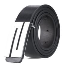Dandali TT26 mannen mode zilver N Buckle lederen riem tailleband  lengte: 115cm