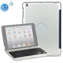 F1 voor iPad mini 3 / 2 / 1 Laptop versie Plastic Bluetooth Keyboard Protective Cover (Zilver)