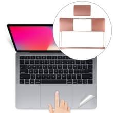 Palm & trackpad beschermer volledige sticker voor MacBook Air 13 (A1932) (Rose goud)