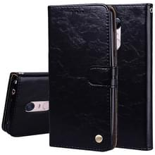 Voor Xiaomi Redmi 5 Plus olie Wax textuur horizontaal lederen draagtas met houder & kaartsleuven & Wallet(Black) spiegelen