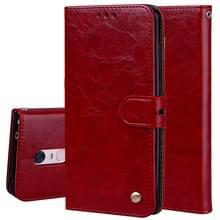Voor Xiaomi Redmi 5 plus olie Wax textuur horizontale Flip lederen draagtas met houder kaartsleuven & portemonnee (rood)