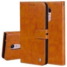 Voor Xiaomi Redmi 5 plus olie Wax textuur horizontale Flip lederen draagtas met houder & kaartsleuven & portemonnee (bruin)