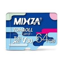MIXZA 64GB hoge snelheid Class10 kleurrijke TF (micro SD) geheugenkaart