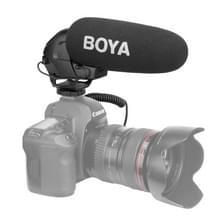 BOYA door-BM3030 Shotgun super cardioid condensor Broadcast microfoon met windscherm voor Canon / Nikon / Sony DSLR camera's (zwart)