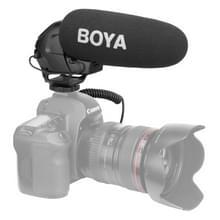 BOYA door-BM3031 Shotgun super cardioid condensor Broadcast microfoon met windscherm voor Canon / Nikon / Sony DSLR Cameras(Black)