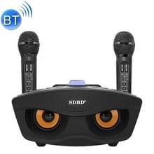 SD-306 2 in 1 familie KTV draagbare draadloze Live Dual microfoon + Bluetooth Speaker(Black)