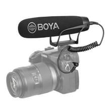 DOOR-BM2021 Shotgun Super-nier condensator broadcast microfoon met voorruit voor Canon/Nikon/Sony DSLR camera's  smartphones (zwart)