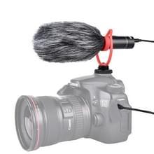 YELANGU MIC015 professioneel interview condensator video shotgun microfoon met 3.5 mm audio kabel voor DSLR & DV camcorder (zwart)