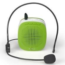 ASiNG S1015 5W Multi-function Portable Little Bee Voice Amplifier Speaker with Wired Microphone for Teacher / Tourist Guide  Support TF Card & Audio Input Function(Green)