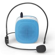 ASiNG S1015 5W Multi-function Portable Little Bee Voice Amplifier Speaker with Wired Microphone for Teacher / Tourist Guide  Support TF Card & Audio Input Function(Blue)