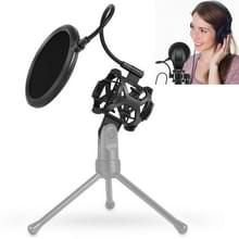 Yanmai PS-2 Recording Microphone Studio Wind Screen Pop Filter Mic Mask Shield  For Studio Recording  Live Broadcast  Live Show  KTV  Online Chat  etc(Black)