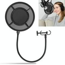 Yanmai PS-1 Dual-layer Recording Microphone Studio Wind Screen Pop Filter Mask Shield  For Studio Recording  Live Broadcast  Live Show  KTV  etc(Black)