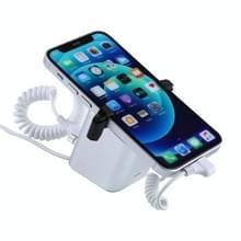 Aluminium shell vierkante kolom anti-diefstal alarmstandaard beveiligingssysteem inbraakalarm / anti-diefstal alarm display houder voor iPhone en iPod met 8-pins poort