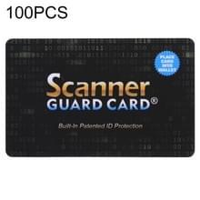 100 PCS scanner Guard Card RFID-blokkerende kaart  ingebouwde gepatenteerde ID-bescherming