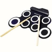 Draagbare siliconen Hand Roll USB elektronische Drum (zwart)