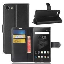 Voor BlackBerry Motion Litchi textuur horizontale Flip lederen draagtas met houder & kaartsleuven & Wallet(Black)