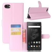 Voor BlackBerry Motion Litchi textuur horizontale Flip lederen draagtas met houder & kaartsleuven & Wallet(Pink)